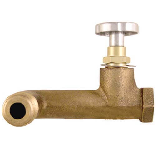 "1/2"" MPT Inlet x 3/8"" MPT Nipple Outlet 90&deg Side Fusible Tank Valve Product Image"