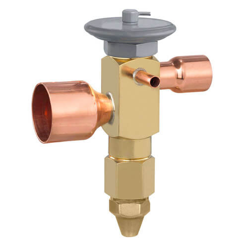 """OVE-15-GA 7/8"""" x 1-1/8"""" ODF Thermal Expansion Valve w/ 120"""" Capillary (15 Ton) Product Image"""