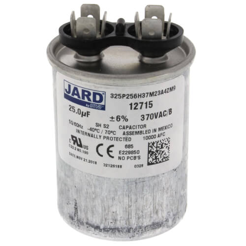 25 MFD Round Run Capacitor (370V) Product Image