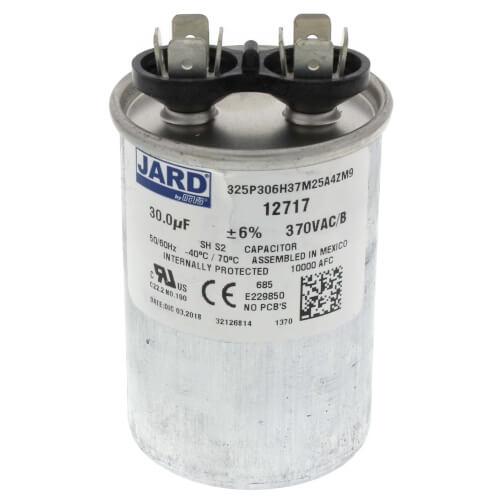 30 MFD Round Run Capacitor (370V) Product Image