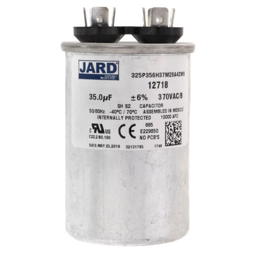 35 MFD Round Run Capacitor (370V) Product Image