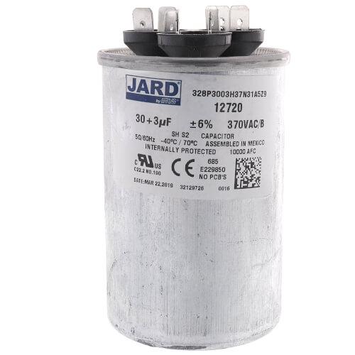 30/3 MFD Round Run Capacitor (370V) Product Image
