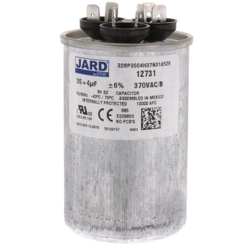35/4 MFD Round Run Capacitor (370V) Product Image