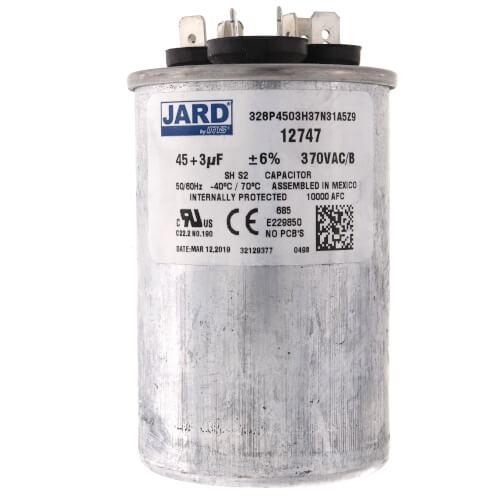 45/3 MFD Round Run Capacitor (370V) Product Image