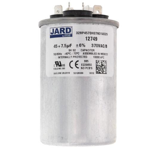 45/7.5 MFD Round Run Capacitor (370V) Product Image