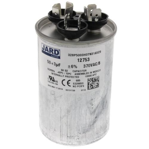 50/3 MFD Round Run Capacitor (370V) Product Image