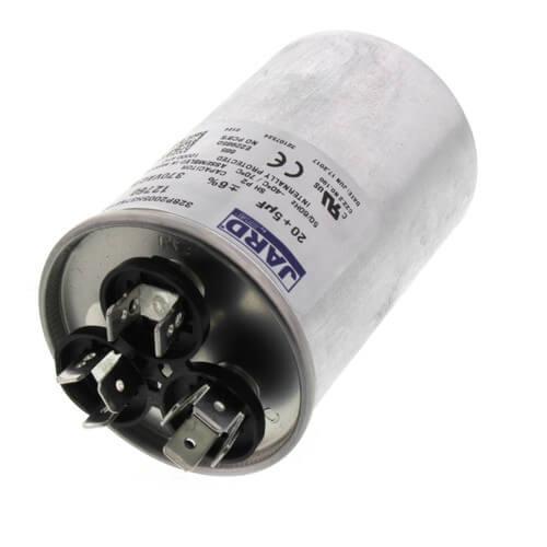 20/5 MFD Round Run Capacitor (370V) Product Image