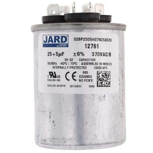 25/5 MFD Round Run Capacitor (370V) Product Image