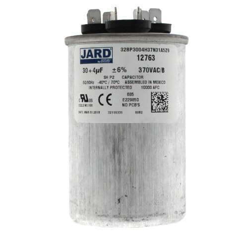 30/4 MFD Round Run Capacitor (370V) Product Image