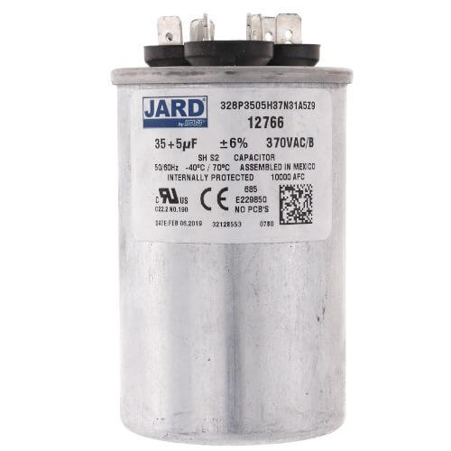 35/5 MFD Round Run Capacitor (370V) Product Image