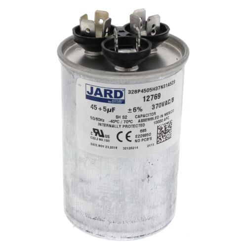 45/5 MFD Round Run Capacitor (370V) Product Image