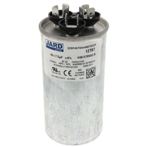 40/7.5 MFD Round Run Capacitor (440V) Product Image
