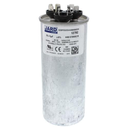 55/5 MFD Round Run Capacitor (440/370V) Product Image