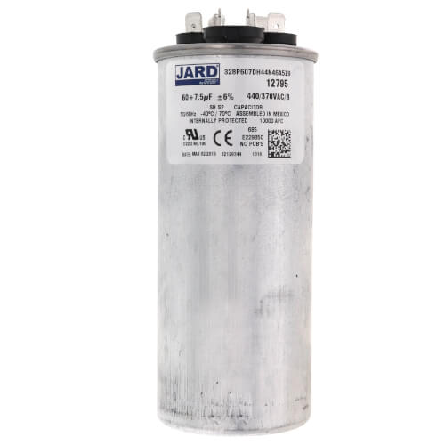 60/7.5 MFD Round Run Capacitor (440V) Product Image