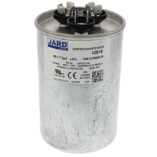 80/7.5 MFD Round Run Capacitor (440V) Product Image