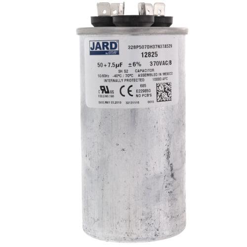 50/7.5 MFD Round Run Capacitor (370V) Product Image