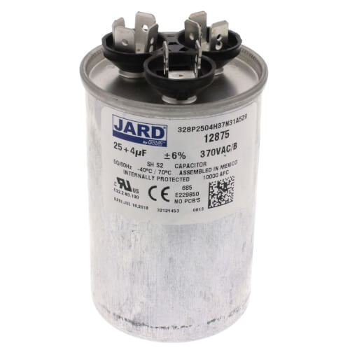 25/4 MFD Round Run Capacitor (370V) Product Image