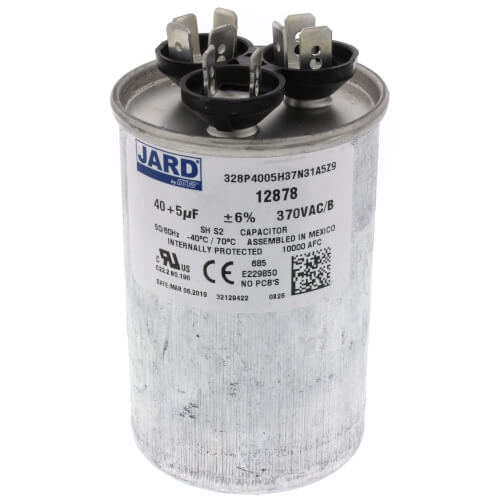 40/5 MFD Round Run Capacitor (370V) Product Image