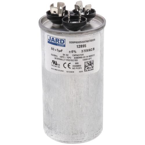 60/5 MFD Round Run Capacitor (370V) Product Image