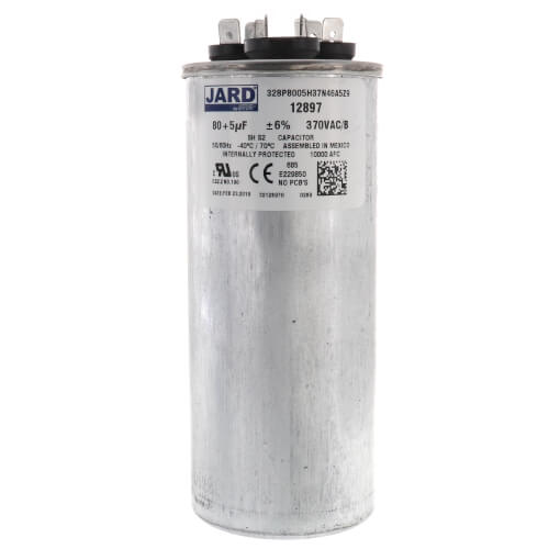 80/5 MFD Round Run Capacitor (370V) Product Image