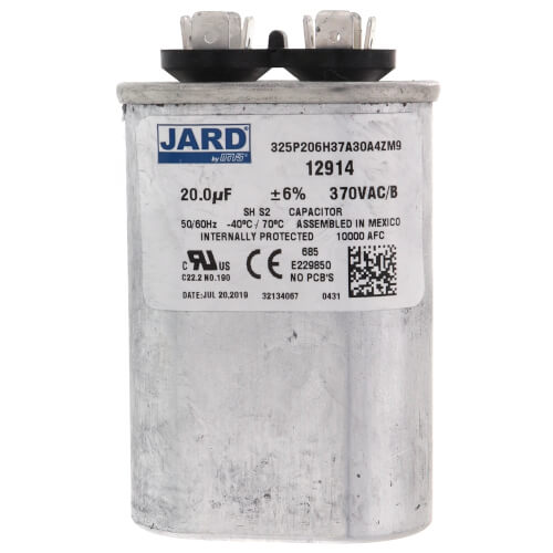 20 MFD Oval Run Capacitor (370V) Product Image