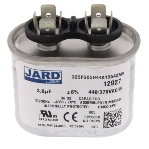 3 MFD Oval Run Capacitor (440V) Product Image
