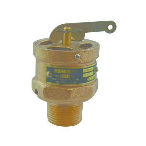"""3/4"""" MNPT x Top RVS13 333 LBS/HR Low Pressure Steam Safety Valve (5 psi) Product Image"""