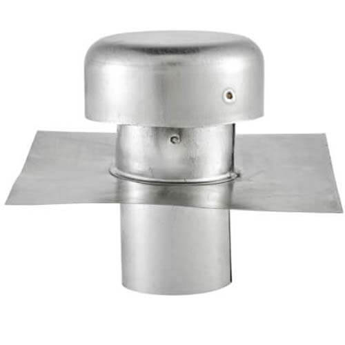 """4"""" Galvanized Roof Cap w/ Screen & Flange (No Damper) Product Image"""