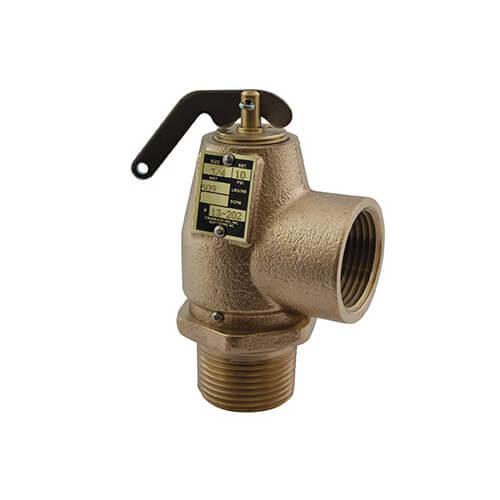 "3/4"" MNPT x 3/4"" FNPT RVS13 383 LBS/HR Low Pressure Steam Safety Relief Valve (10 psi) Product Image"