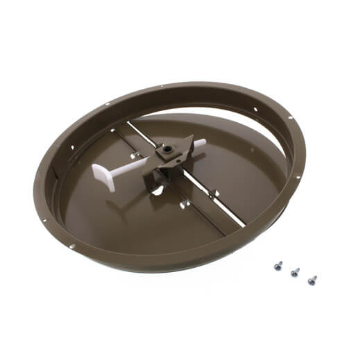 """10"""" Steel Butterfly Damper with Ring Product Image"""