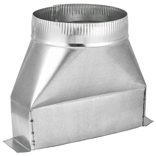 "4"" Aluminum Transition (3-1/4"" x 10"" Round) Product Image"