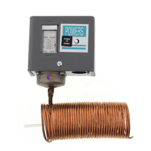134 Electric Freeze Stat w/ Manual Reset, 15/55F, DPST Product Image