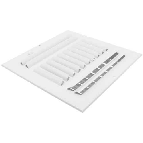 "10"" x 10"" (Wall Opening Size) Three-Way White Sidewall/Ceiling Register (303 Series) Product Image"