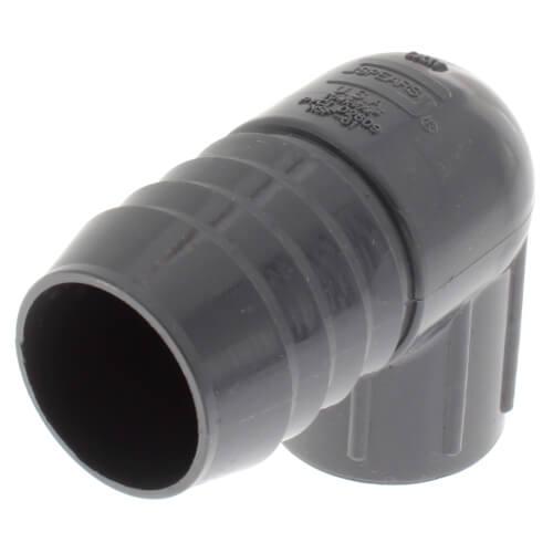 "1-1/4"" x 3/4"" 90° PVC Insert Reducing Elbow (Insert x FIPT) Product Image"