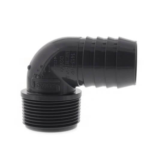 "1-1/4"" 90° PVC Insert Elbow (Insert x MIPT) Product Image"