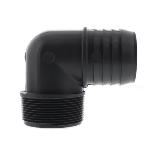 "2"" 90° PVC Insert Elbow (Insert x MIPT) Product Image"