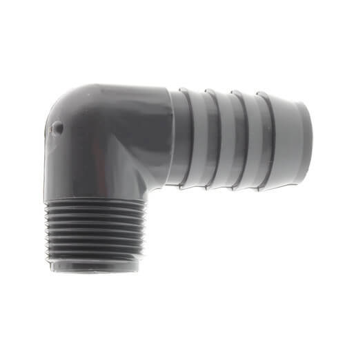 "1"" x 3/4"" 90° PVC Insert Reducing Elbow (Insert x MIPT) Product Image"