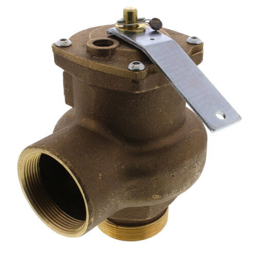 "2"" MNPT x 2"" FNPT RVS14 3150 BTU High Capacity Low Pressure Steam Safety Valve (15 psi) Product Image"