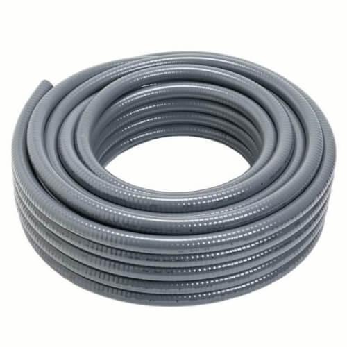 "3/4"" Carflex Gray Liquidtight Flexible Non-Metallic Conduit (100 Foot Coil) Product Image"