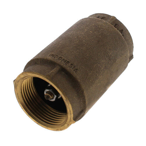 """1-1/4"""" Threaded Spring Loaded Check Valve, Lead Free Product Image"""