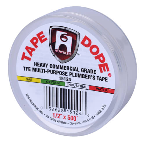 """Multipurpose Heavy Industrial Tape Dope, 1/2"""" x 500"""" Product Image"""
