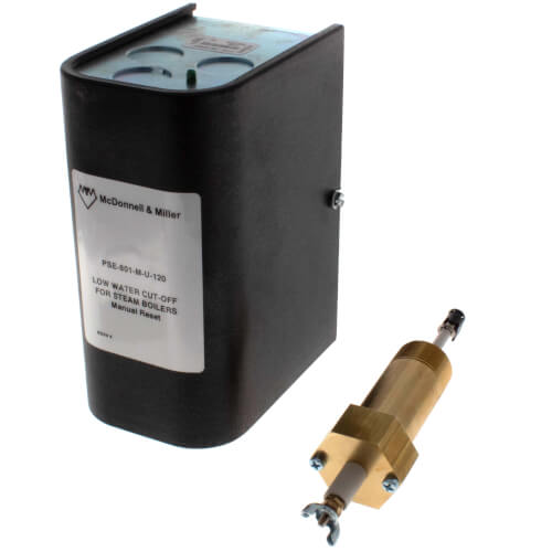 PSE801-M-U-120, Electronic, 120V Low Water Cut-Off w/ Manual Reset w/ Ext. Barrel (Steam) Product Image