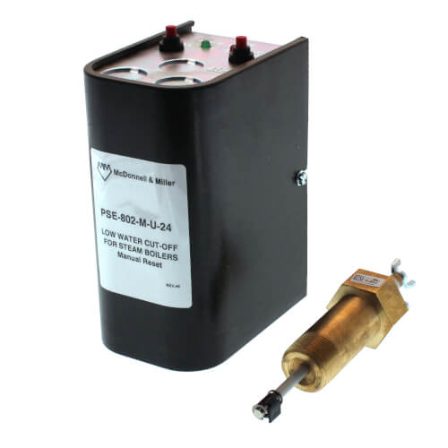 PSE802-M-U-24, Electronic, 24V Low Water Cut-Off w/ Manual Reset w/ Ext. Barrel (Steam) Product Image