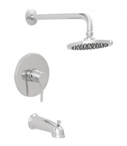 Chrome Plated Tub/Shower Faucet with Rain Shower Head, Trim Only Product Image