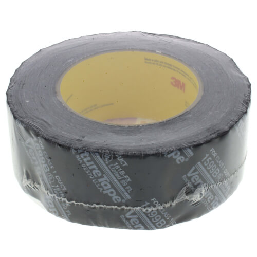 "UL181B-FX Printed Flexible Duct Closure Tape - Black (2"" x 360') Product Image"
