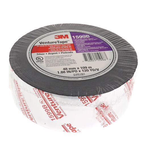 """UL181B-FX Printed Flexible Duct Closure Tape - Silver (2"""" x 360') Product Image"""