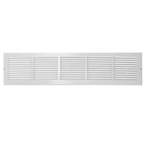 """30"""" x 6"""" White Baseboard Return Air Grille (674 Series) Product Image"""
