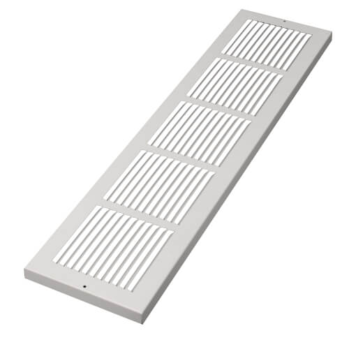 """30"""" x 8"""" White Baseboard Return Air Grille (674 Series) Product Image"""