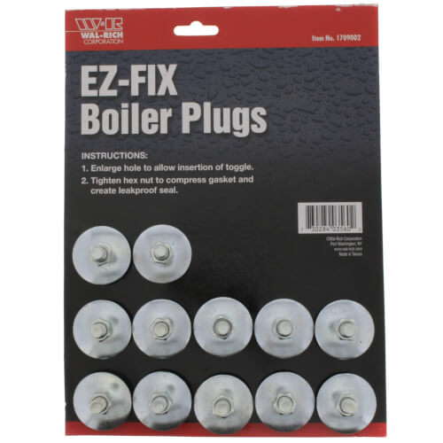 E-Z Fix Boiler Plug (Pack of 12) Product Image