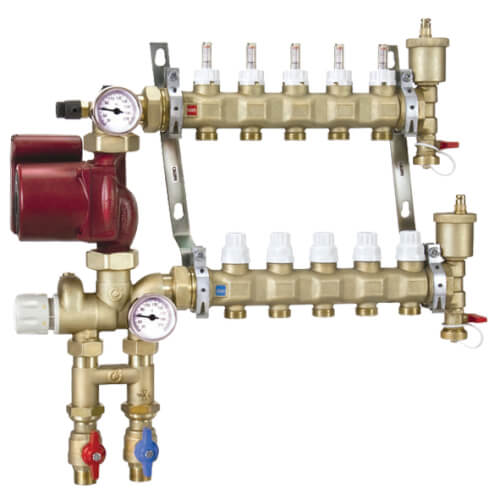 Inverted Fixed Point Manifold Mixing Station w/ UPS15-58FC Pump (6 Outlets) Product Image